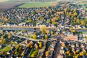 Nederland, Groningen, Midden-Groningen, 04-11-2018; Zuidbroek, kruising Winschoterdiep en Muntendammerdiep.<br /> <br /> luchtfoto (toeslag op standaard tarieven);<br /> aerial photo (additional fee required);<br /> copyright&copy; foto/photo Siebe Swart