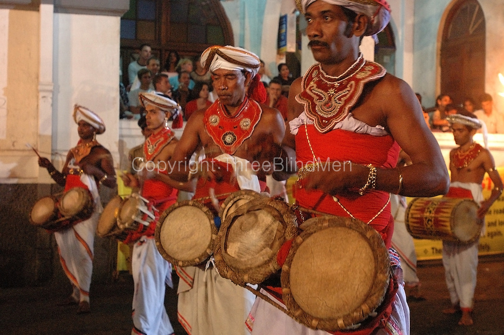 Drummers at the Kandy Perahera held for Esala Full Moon.