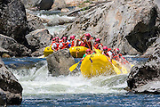 Whitewater rafting on the North Fork Stanislaus River near Big Trees State Park in Californa