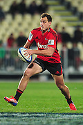 Israel Dagg of the Crusaders goose stepping in the Super Rugby Qualifier game, Crusaders v Reds, at AMI Stadium, Christchurch, New Zealand, on the 20 July 2013. Photo:John Davidson/photosport.co.nz