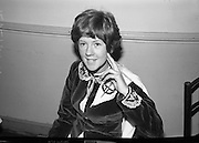 22 year old Catherine Cosgriff, from Melbourne, Australia. who competed in the Irish Dancing Championships at the Mansion House. She was never before in Ireland; her grandparents came from Limerick and Cork.  She is the present Senior Australian Irish Dancing Champion..21.02.1965