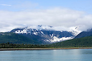Alaska, Yakutat Bay and Hubbard Glacier as seen from the sea