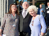President Michael D Higgins  with Kate O Toole and Fionnula Flannagan at the closing of  25th Galway Film Fleadh. Photo:Andrew Downes