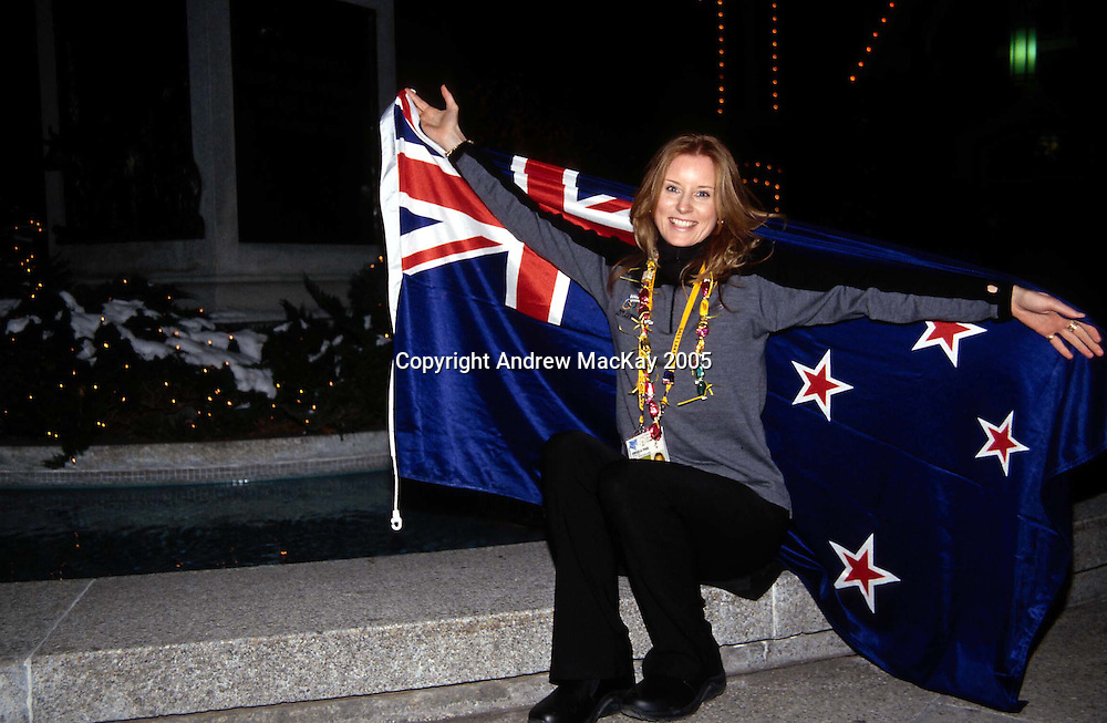 New Zealand luge athlete Angela Paul during the Winter Olympics in Salt Lake City, Utah, USA, 2002. Photo: Sandra Teddy/PHOTOSPORT<br />