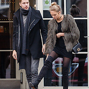 NLD/Laren/20151220 - Romee Strijd met vrienden en haar partner Laurens van Leeuwen,                                                                Victoria Secret model Romee Strijd in her home country the Netherlands for the holidays with her partner Laurens van Leeuwen,
