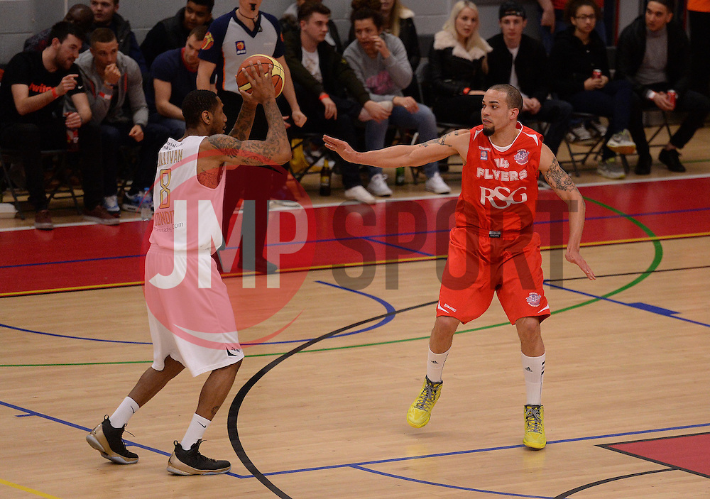 Doug McLaughlin-Williams of Bristol Flyers - Photo mandatory by-line: Alex James/JMP - Mobile: 07966 386802 - 28/03/2015 - SPORT - Basketball - Bristol - SGS Wise Campus - Bristol Flyers v London Lions - British Basketball League