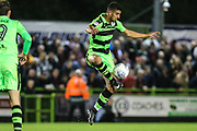 Forest Green Rovers Omar Bugiel(11) controls the ball during the EFL Sky Bet League 2 match between Forest Green Rovers and Swindon Town at the New Lawn, Forest Green, United Kingdom on 22 September 2017. Photo by Shane Healey.