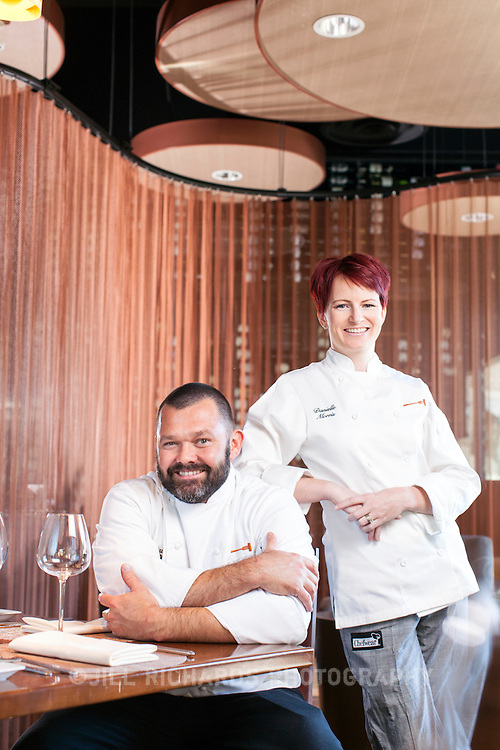 Danielle Morris and Brian Peterson, pastry chef and executive chef at Cork, located at 4991 S. Alma School Rd., Ste. 101, Chandler, AZ.