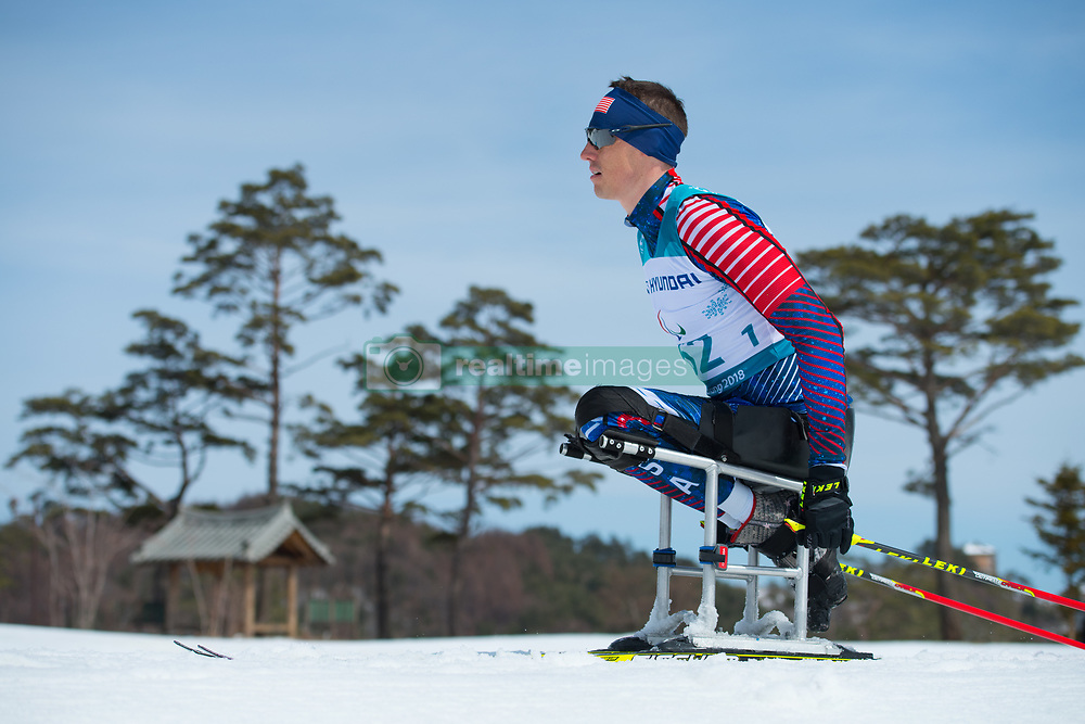 March 17, 2018 - Pyeongchang, South Korea - Bryan Price of the US during the 7.5 km Cross Country event Saturday, March 17, 2018 at the Alpensia Biathlon Center at the Pyeongchang Winter Paralympic Games. Photo by Mark Reis (Credit Image: © Mark Reis via ZUMA Wire)