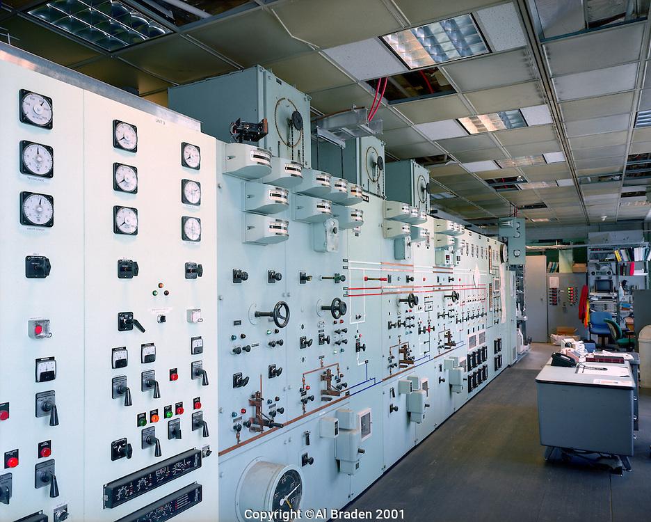 Control Panel, Bellows Falls Power Station. Dam is now operated from Wilder Station. Bellows Falls, VT