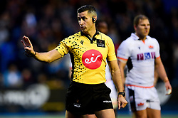 Referee Frank Murphy - Mandatory by-line: Ryan Hiscott/JMP - 05/10/2019 - RUGBY - Cardiff Arms Park - Cardiff, Wales - Cardiff Blues v Edinburgh Rugby - Guinness Pro 14