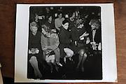 Marietta Tree, Brooke Astor, Annette de la Renta, Mrs. Henry Kissinger, Mrs. David Bruce, Oscar de la Renta fashion show, 1990.