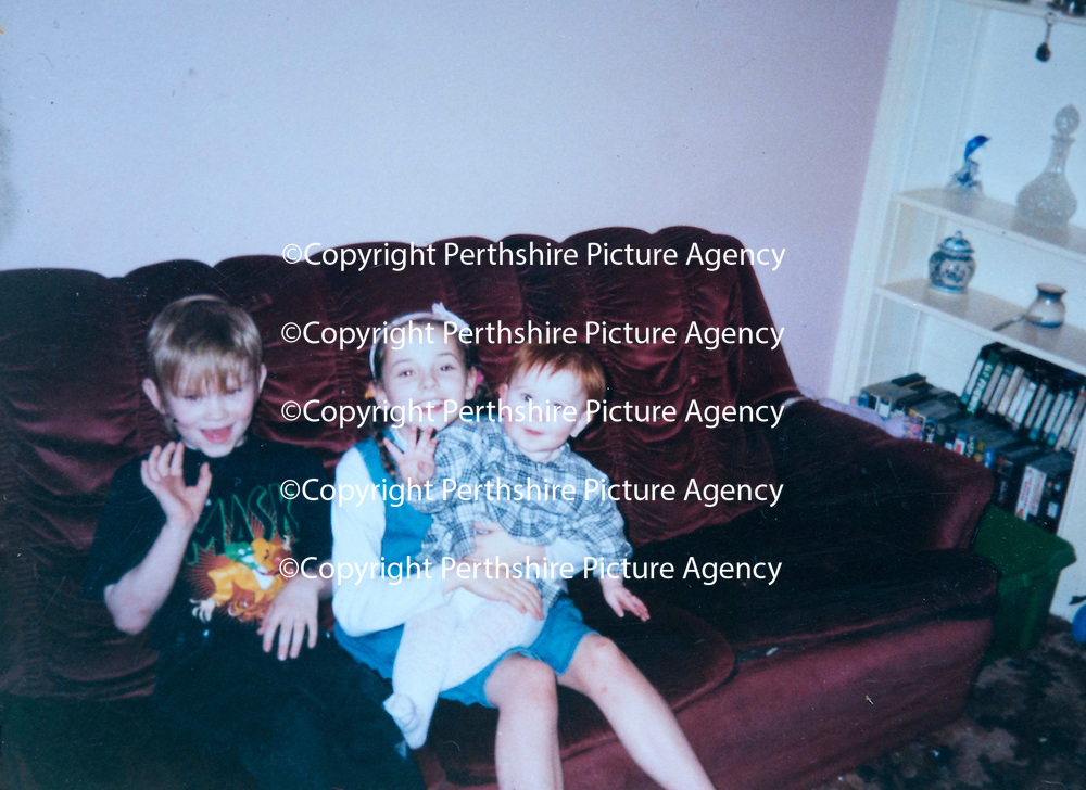 A collect photo of burns victim Alicia Gibson from Aylth, Perthshire..  In this photo Alicia is about 1 year old pictured with her older brother and sister Connor and Melissa.<br /> Picture by Graeme Hart.<br /> Copyright Perthshire Picture Agency<br /> Tel: 01738 623350  Mobile: 07990 594431