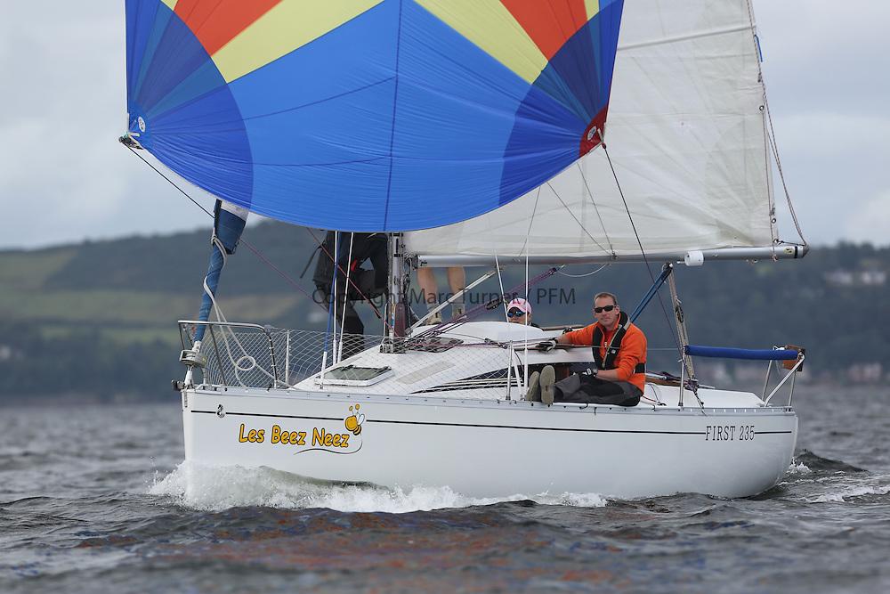 Peelport Clydeport Largs Regatta Week 2013 <br /> <br /> 11230, Les Beez Neez, First 235, Birrell/James, DBSC<br /> <br /> Largs Sailing Club, Largs Yacht Haven, Scottish Sailing Institute