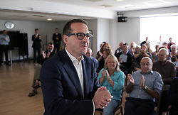 © Under licence to London News Pictures. 08/08/2016 Owen Smith arrives at a rally in Darlington, County Durham, UK. The Labour leadership candidate has called for the election deadline to be extended in the light of the High Court ruling that 130,000 party members were illegally barred from voting.  Photo Credit: Stuart Boulton/LNP