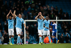 15.03.2016, Etihad Stadium, Manchester, ENG, UEFA CL, Manchester City vs Dynamo Kiew, Achtelfinale, Rueckspiel, im Bild clichy gael, demichelis martin, navas jesus // during the UEFA Champions League Round of 16, 2nd Leg match between Manchester City and FC Dynamo Kyiv at the Etihad Stadium in Manchester, Great Britain on 2016/03/15. EXPA Pictures © 2016, PhotoCredit: EXPA/ Pressesports/ MARTIN RICHARD<br /> <br /> *****ATTENTION - for AUT, SLO, CRO, SRB, BIH, MAZ, POL only*****