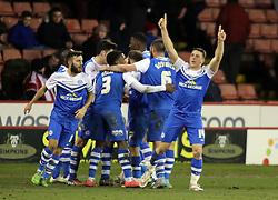 Peterborough United's Connor Washington celebrates scoring the winning goal - Photo mandatory by-line: Joe Dent/JMP - Mobile: 07966 386802 - 03/03/2015 - SPORT - Football - Sheffield - Bramall Lane - Sheffield United v Peterborough United - Sky Bet League One