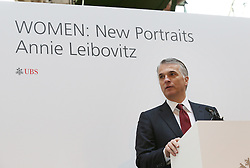 © Licensed to London News Pictures. This image is free to use ONLY in connection with the launch of the 'WOMEN: New Portraits' exhibition. 13/1/2016. London, UK. Sergio P Ermotti, Group CEO, UBS launches Annie Leibovitz's 'WOMEN:New Portraits' exhibition at Wapping Hydraulic Power Station. The exhibition opens to the public from Saturday 16th January until 7th February 2016. The newly commissioned photographs by the world renowned photographer will travel to 10 cities over the course of twelve months – London, Tokyo, San Francisco, Singapore, Hong Kong, Mexico City, Istanbul, Frankfurt, New York and Zurich. Access will be free to the public. Photo credit: Peter Macdiarmid/LNP