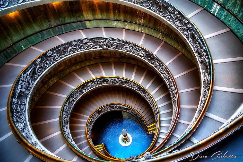 """The Vatican Museums double helix spiral staircase II""…<br />