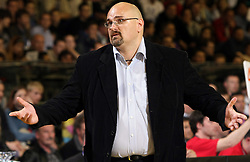Head coach of Union Olimpija Aleksandar Dzikic during second semi-final match of Basketball NLB League at Final four tournament between KK Partizan Igokea, Beograd, Serbia and Union Olimpija, Ljubljana, Slovenia, on April 25, 2008, in Arena Tivoli in Ljubljana. Match was won by Partizan 94:90. (Photo by Vid Ponikvar / Sportal Images)