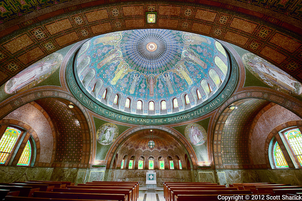 A look inside the chapel located in Minneapolis, Minnesota.