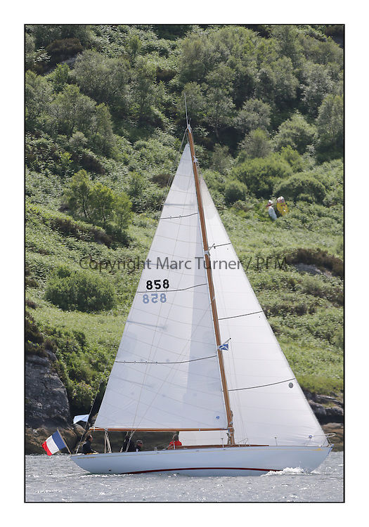 Day three of the Fife Regatta, Cruise up the Kyles of Bute to Tighnabruaich<br /> Ellad, Didier Griffiths, FRA, Bermudan Sloop, Fairlie Yacht Services 1957<br /> <br /> * The William Fife designed Yachts return to the birthplace of these historic yachts, the Scotland&rsquo;s pre-eminent yacht designer and builder for the 4th Fife Regatta on the Clyde 28th June&ndash;5th July 2013<br /> <br /> More information is available on the website: www.fiferegatta.com