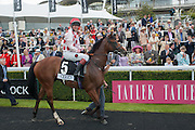 WINNER LADIES RACE: PHILLIPA HOLLAND, Ladies Day, Glorious Goodwood. Goodwood. August 2, 2012