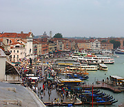 The Riva degli Schiavoni is a wide promenade along the waterfront in Venice, Italy.