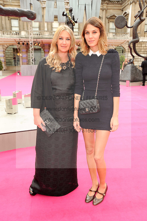 Left to right, ANYA HINDMARCH and ALEXA CHUNG at the Royal Academy of Arts Summer Party held at Burlington House, Piccadilly, London on 9th June 2010.