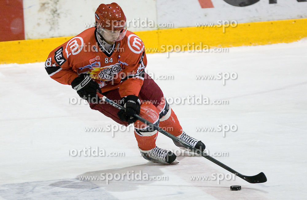 Andrej Hebar of Acroni Jesenice at 28th Round  ice hockey match of EBEL league between HK Acroni Jesenice and HDD Tilia Olimpija Ljubljana, on December 4, 2009, in Arena Podmezaklja, Jesenice, Slovenia. Olimpija defeated Jesenice 8-7. (Photo by Vid Ponikvar / Sportida)