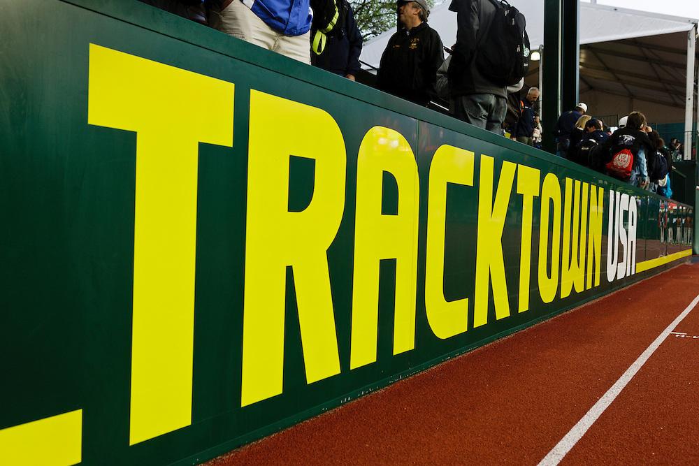 Tracktown USA grandstands at Hayward Field