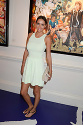 SASHA VOLKOVA at Ronnie Wood's Raw Instinct Summer Party held at Castle Fine Art, Bruton Street, London on 9th July 2013.