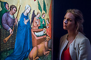 The Master of the Saint Lambrecht Votive Altarpiece, Recto: The Nativity; circa 1435-40 est. £300,000 — 400,000 - London Old Masters Evening sale exhibition at Sotheby's New Bond Street. The sale takes palce on 6 December 2017 covers 400 years of art history.