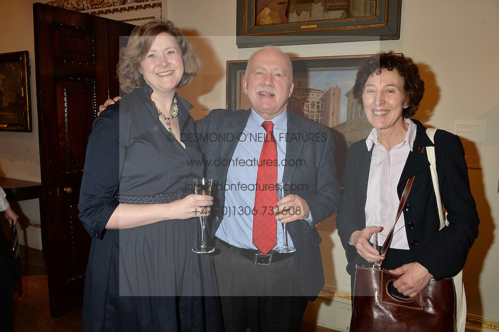LONDON, ENGLAND 28 NOVEMBER 2016: Left to right, Melanie Doderer-Winkler, Philip Mansel, Lucy Whitaker at a reception to celebrate the publication of The Sovereign Artist by Christopher Le Brun and Wolf Burchard held at the Royal Academy of Art, Piccadilly, London, England. 28 November 2016.