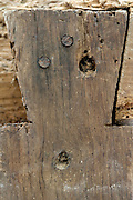 extreme close up old classical joint which is deterioting