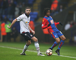 Mark Beevers of Bolton Wanderers (L) and Loic Remy of Crystal Palace in action - Mandatory by-line: Jack Phillips/JMP - 07/01/2017 - FOOTBALL - Macron Stadium - Bolton, England - Bolton Wanderers v Crystal Palace - FA Cup Third Round