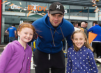 13/09/2015  Niall Breslin, Bessie, with Roisin Crowe and Sarah Louise Brennan  at the official opening of the body works  a gym in Galway city.<br /> Photo:Andrew Downes, xposure<br /> The Body Works Galway is Galway&rsquo;s newest fitness studio. We are located adjacent to Parkmore in Briarhill Business park about a seven minute walk from the Parkmore Industrial Estate and Briarhill Shopping Centre.<br /> <br /> The fitness studio consists of a spinning studio at ground floor and a fitness studio at first floor where we provide classes in Kettlebells, Pilates, Yoga,TRX, Body Pump and Circuits . We have 16 spinning bikes (cardio machines) in our spinning studio.