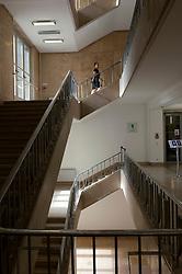 Stairway  of historic Finance Ministry or Bundesministerium der Finanzen in Mitte Berlin Germany