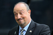 Newcastle United manager Rafael Benitez during the Premier League match between Newcastle United and Arsenal at St. James's Park, Newcastle, England on 15 September 2018.