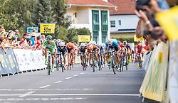 08.07.2016, Stegersbach, AUT, Ö-Tour, Österreich Radrundfahrt, 6. Etappe, Graz nach Stegersbach, im Bild Zielsprint, Nicola Ruffoni (ITA, Bardiani CSF), Daniel Auer (AUT, Team Felbermayr Simplon Wels) // Nicola Ruffoni (ITA, Bardiani CSF), Daniel Auer (AUT, Team Felbermayr Simplon Wels) during the Tour of Austria, 6th Stage from Gratz to Stegersbach, Austria on 2016/07/08. EXPA Pictures © 2016, PhotoCredit: EXPA/ JFK