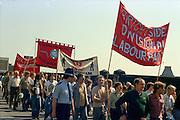 March against anti trade union legislation. Sheffield 1980.