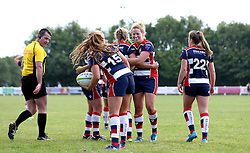 Bristol Ladies celebrate Lottie Holland scoring a try - Mandatory by-line: Robbie Stephenson/JMP - 18/09/2016 - RUGBY - Cleve RFC - Bristol, England - Bristol Ladies Rugby v Aylesford Bulls Ladies - RFU Women's Premiership