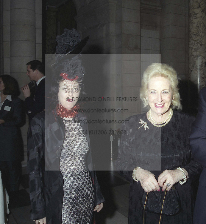 Left to right, ISABELLA BLOW, her mother HELEN, LADY DELVES BROUGHTON,  at a reception in London on March 4th 1997.LWW 52<br /> <br /> NON EXCLUSIVE - WORLD RIGHTS