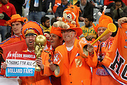 CAPE TOWN, SOUTH AFRICA- Tuesday 6 July 2010, Dutch fans during the semi final match between Uruguay and the Netherlands (Holland) held at the Cape Town Stadium in Green Point during the 2010 FIFA World Cup..Photo by Roger Sedres/Image SA