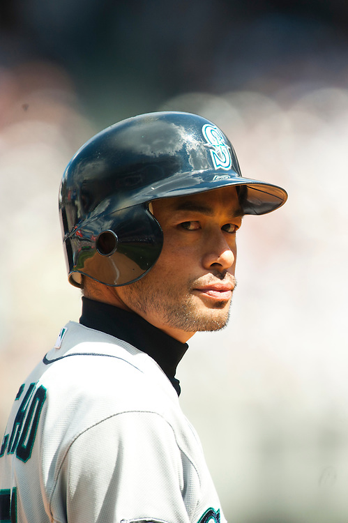 NEW YORK - JULY 27: Ichiro Suzuki #51 of the Seattle Mariners looks on during the game against the New York Yankees at Yankee Stadium on July 27, 2011 in the Bronx borough of Manhattan. (Photo by Rob Tringali) *** Local Caption *** Ichiro Suzuki