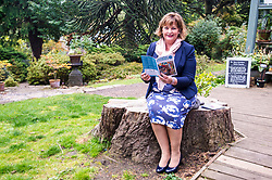 Pictured:  Fiona Hyslop<br /> <br /> Fiona Hyslop MSP. Cabinet Secretary for Culture, Tourism & External Affairs today previewed the 2018 festival, which looks at the future of storytelling in Scotland, nurturing local roots, reaching out globally and celebrating Celtic traditions shared by Scotland and Ireland. During her preview Ms Hyslop met festival director Donald Smith, David Mitchell of Scotland's Garden Scheme, and storytellers Miriam Morris and Daniel Allison.