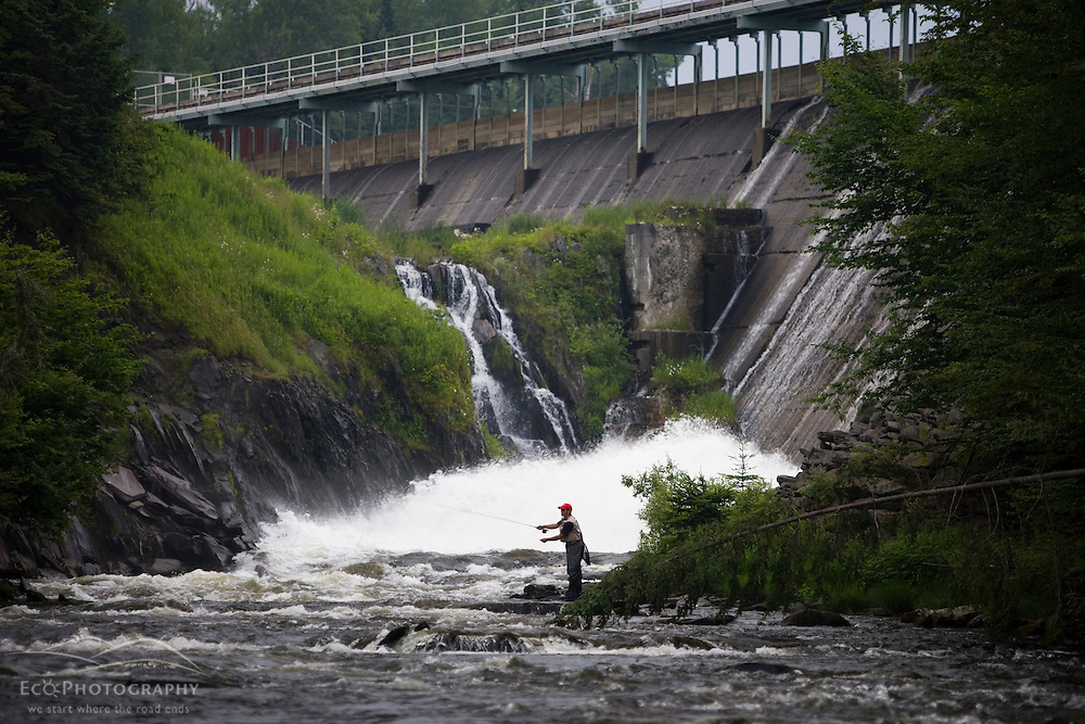 Fly Fishing On The Connecticut River Just Below First