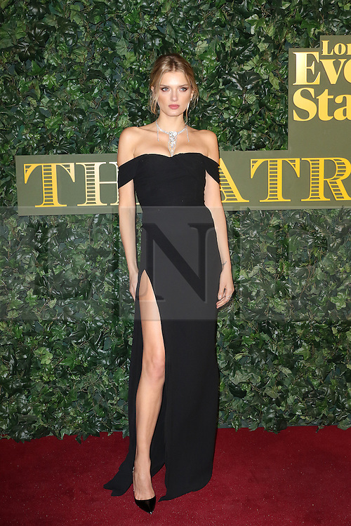 © Licensed to London News Pictures. 13/11/2016. London, UK, Lily Donaldson, Evening Standard Theatre Awards, Photo credit: Richard Goldschmidt/LNP