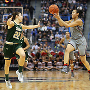 HARTFORD, CONNECTICUT- JANUARY 10: Saniya Chong #12 of the Connecticut Huskies passes the ball while defended by Laia Flores #22 of the South Florida Bulls during the the UConn Huskies Vs USF Bulls, NCAA Women's Basketball game on January 10th, 2017 at the XL Center, Hartford, Connecticut. (Photo by Tim Clayton/Corbis via Getty Images)
