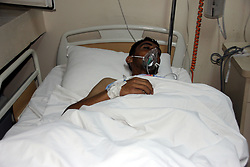 In this photo taken on late Tuesday, April 4, 2017 and made available Wednesday, April 5, a victim of alleged chemical weapons attacks in Syrian city of Idlib, at a local hospital in Reyhanli, Turkey. A suspected chemical attack in a town in Syria's rebel-held northern Idlib province killed dozens of people on Tuesday, opposition activists said, describing the attack as among the worst in the country's six-year civil war.(IHA via AP)Photo by DHA/Depo Photos/ABACAPRESS.COM